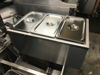 CATERING COMMERCIAL BRAND NEW 3 POT WET BAIN MARIE CUISINE CAFE SHOP TAKE AWAY FAST FOO COMMERCIAL