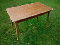 Small Wooden Kitchen or Dining Table 65cm x 105cm and 76cm high