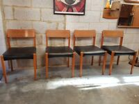 4 x Mid Century Retro Teak Chairs