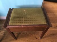 Vintage piano stool with lift up lid