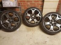 "Vauxhall VXR vectra / insignia 19"" alloy wheels with tyres"