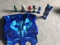 Pj masks small bundle of toys and costume