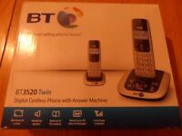 bt 3520 twin house phone with answer machine