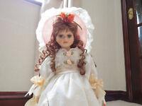 Porcelain Doll by Leonardo (April). Original, Vintage, Collectable - Circa 1990's