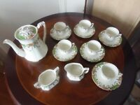"Alfred Meakin ""Solway"" vintage bone china coffee set"