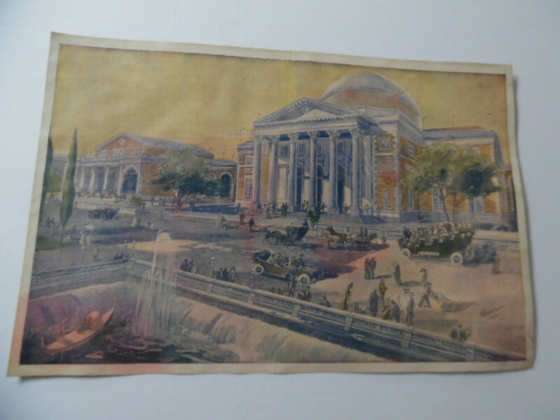 1907 JAMESTOWN Exposition Supplement Print New York Sunday World Fair Auditorium