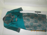 MIREIA BISBE mother of the bride dress jacket wedding dress outfit bundle (and shoes) size 12/ 14