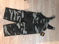 Boys dungarees cat camouflage new aged 2
