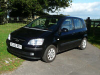Hyundai GETZ 1.3 CDX, Black, Only 53000 Miles, Only 2 owners (Mother + Daughter)