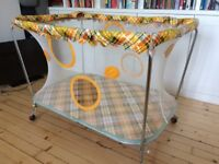 Authentic, retro 1970s playpen - a true style statement!