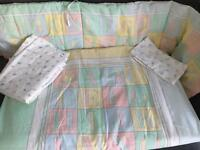 Mothercare ABC cot bedding.