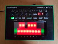 Roland Aira TB-3 Bassline with Decksaver cover