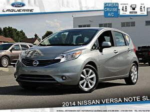 2014 Nissan Versa Note 1.6 SL**50$/SEM!!*CAM*BLUETOOTH*A/C*SIÈGE