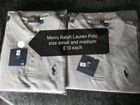 Mens ralph lauren size small and medium polo tops
