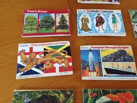 Brooke Bond tea cards in albums