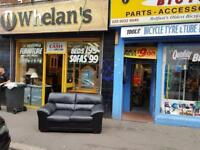 2 seater sofa in a black leather £99