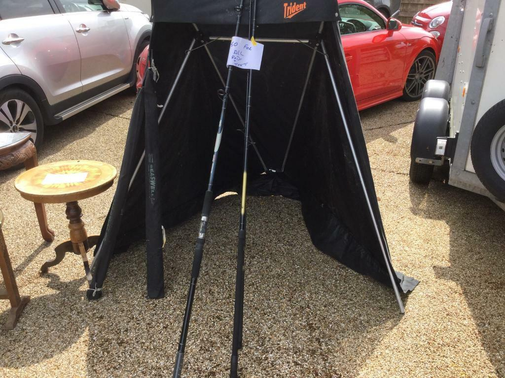Fishing rods and shelterin Lowestoft, SuffolkGumtree - Assortment of sea boat rods and river rods plus shelter Pakefield area