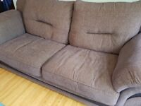 Harvey's 3 Seater Grey Large Fabric Sofa in Great Condition