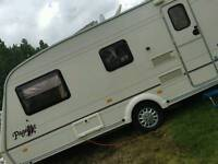 Bailey Caravan and 4x4 suzuki