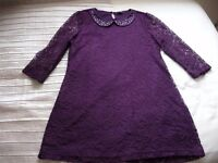 LACY TUNIC IN PURPLE