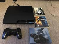 Ps3 slim 120gb with games