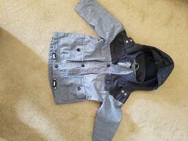 Kids Coat/Jacket fleece lined with Hood 1.5-2yrs