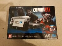 New Nintendo Wii U console ZombiU premium pack Limited Edition