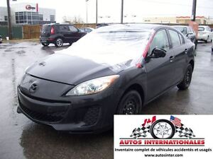 2013 Mazda MAZDA3 SEDAN EN MARCHE STATUT IRRECUPERABLE POUR PIEC