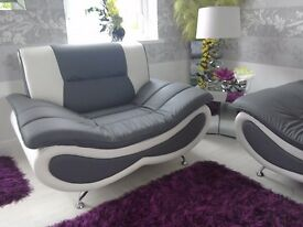 New bonded leather suite