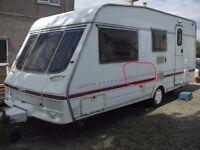very spacious 5 berth caravan