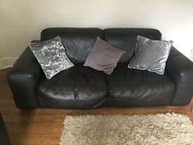 2 Barker and Stonehouse Brown Leather Sofas