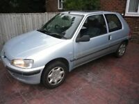 "2001 PEUGEOT 106 ""INDEPENDENCE"" 1124cc 3 door in SILVER."