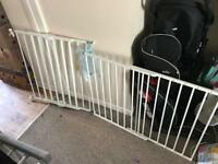 2 screw in adjustable stair gates! All parts supplied! Collection only.