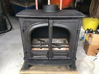 Stovax Stockton 8 multi-fuel wood burning stove with back boiler.