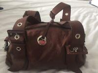 Tula genuine brown leather bag