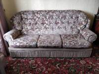 Vintage suite - 3 seater sofa and 2 arm chairs