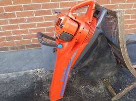 husqvarna leaf blower and collector
