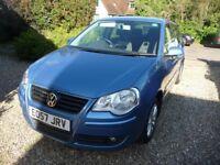 VW Polo 2007 1.4S 5-door Automatic, metallic blue, 50000 miles, MOT to 18/09/2018, £3400 OBO