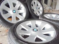 "18"" genuine bmw Alloys Wheels X5 7 6 3 X3 Series Vw T5 range rover NEW tyres"