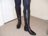 Black Leather Boots (UK 4) £40