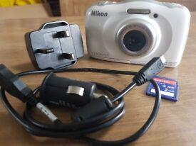 Nikon waterproof underwater camera with some extras