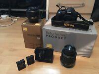 Nikon D3100 DSLR Camera with 2 Lenses + 8GB SD Card £22 ONO