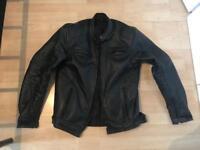 Black motorbike leather jacket