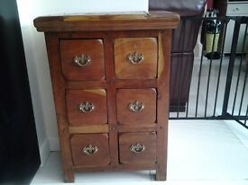 Solid wood 6 Drawer Cabinet
