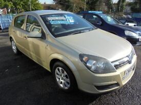 VAUXHALL ASTRA 1598cc CLUB TWINPORT 5 DOOR HATCH 2005-05, GOLD, 104K FROM NEW