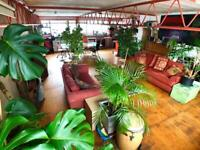 Bright Mezzanine room for single person in beautiful warehouse apartment in Manor House, N4. Zone 2.