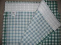 John Lewis Curtains (Jonelle) in green and cream small check