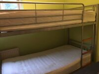ATLAS 3FT METAL BUNK BED FRAME SPLITS IN TWO BEDS