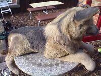 very large stuffed Alsatian dog
