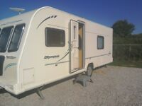 Touring caravan Baily Olympus 534 2011. Alutec. Motor mover, fixed bed, alko stabiliser.